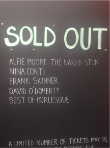 Sold out board 1st August